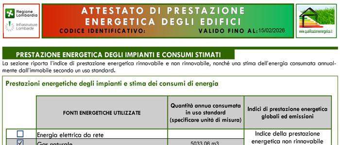 prezzi certificazione energetica | costo attestato di prestazione ... - Consumi Casa Certificazioni A Trieste
